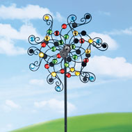 Mirrored Kinetic Wind Spinner Garden Stake - 41896