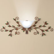Metal Leaves Wall Sconce Lamp with Remote - 41931