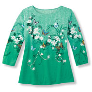 Flowering Shamrock Embellished Top - 41948