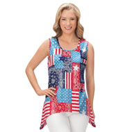 Americana Patchwork Sequin Tank Top - 41950