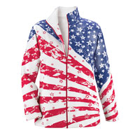 Patriotic Stars and Stripes Zip Up Jacket - 41953