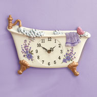 Lavender Bathtub Decorative Wall Clock - 41968