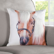 3-Dimensional Western Horse Accent Pillow - 41985