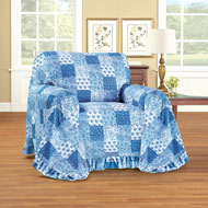 Patchwork Ruffled Furniture Cover Protector - 42026
