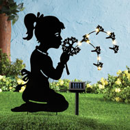 Girl with Dandelion Solar Shadow Stake