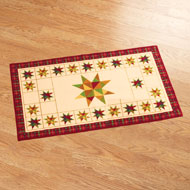 Patchwork Primitive Star Accent Rug - 42143