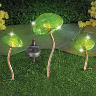 Mushroom Stakes 3pc. Solar Light Decoration - 42172