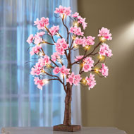 Lighted Cherry Blossom Floral Tabletop Tree - 42208