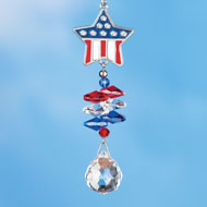 Patriotic Suncatchers Window Decoration - 42243