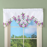 Elegant Wildflowers Window Valance - 42252