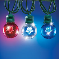 Set of 25 Patriotic Star Globe String Lights - 42267