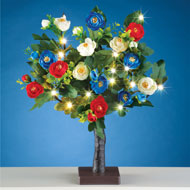 Lighted Patriotic Rose Tree Table Decor - 42276