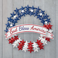 God Bless America Metal Door Decoration - 42280