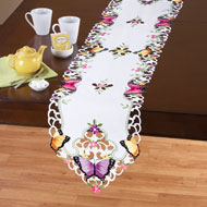 Beautiful Butterflies and Flowers Table Linens