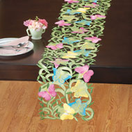 Butterfly Garden Cut Out Table Linens