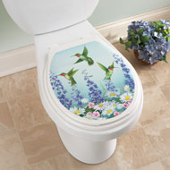 Hummingbird Garden Toilet Tattoo Decal - 42289