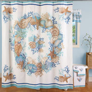 Nautical Seashell Shower Curtain - 42305