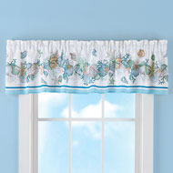 Nautical Seashell Curtain Valance - 42307