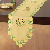 Elegant Yellow Tulip Spring Table Linens - 42319