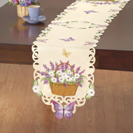 Lavender & Daisies Spring Table Linens - 42324
