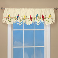 Beautiful Birds Spring Valance Curtain - 42338