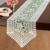 Exquisite Lace & Organza Table Linens