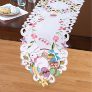 Easter Bunny and Basket Table Linens - 42356