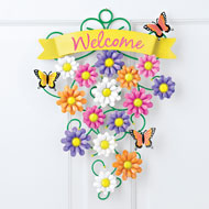 Welcome Spring Metal Door Decoration - 42370