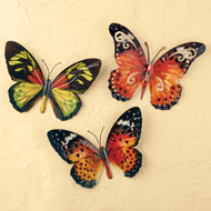 Metal 3D Butterfly Wall Art Set - 42372