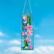 Hummingbirds Art Glass Suncatcher - 42377