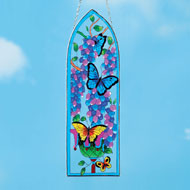 Glass Hand-Painted Butterflies Suncatcher - 42379