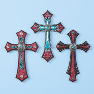 Southwest Decorative Wall Crosses - Set of 3 - 42387