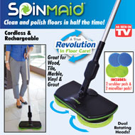Spin Maid Rechargeable Cordless Floor Cleaner - 42392
