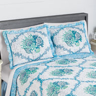 Blue Coral Seashell Pillow Sham - 42394