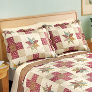 Classic Country Star Patchwork Pillow Sham - 42402
