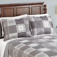 Bandana Grey Patchwork Pillow Sham - 42412