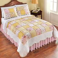 Blissful Floral Reversible Patchwork Quilt - 42434