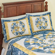 Mattie Medallion Patchwork Floral Pillow Sham