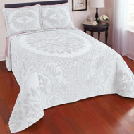 Emily Chenille Medallion Textured Bedspread - 42454