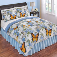 Nadine Reversible Rose Butterfly Comforter Set