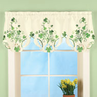 Shamrock Embroidered Window Valance - 42483