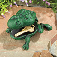 Cast Iron Frog Key Hider Garden Decoration - 42503