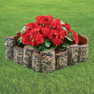 Faux Wood Garden Edging, Set of 4 - 42504