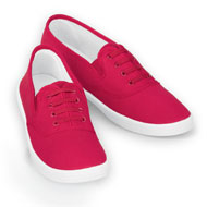 Ladies Slip-On No Tie Comfort Canvas Sneakers