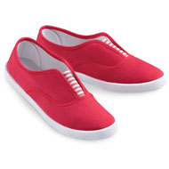 Women's Slip-On Sneakers with Stripe Accent - 42509