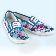 Floral Print Stretch Lace No Tie Sneakers - 42511