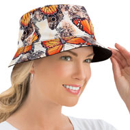 Ladies Summer Print Reversible Bucket Hat - 42530