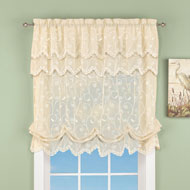 Sheer Scroll Balloon Curtain Shade