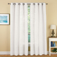 Linen Pleated Grommet Top Curtain Panel - 42548