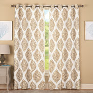 Leaf Lattice Jacquard Curtain Panel - 42558